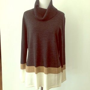 Pendleton Colorblock Cowl Neck Sweater